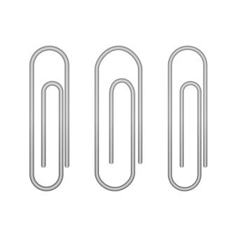 Ikony spinacza na białym. ilustracja wektorowa