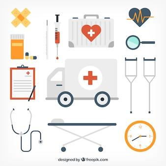 Ikony sprzęt medyczny