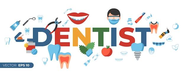 Ikony stomatologii i opieki zdrowotnej