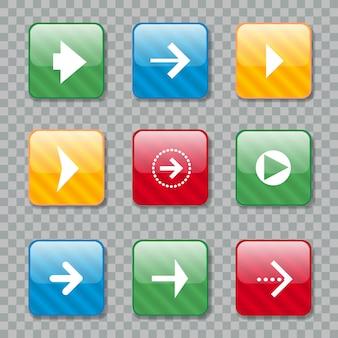 Ikony strzałki na projektowanie stron internetowych. ilustracja wektorowa