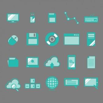 Ikony technologia kolekcji