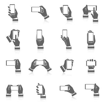 Ikony telefonu ręcznie