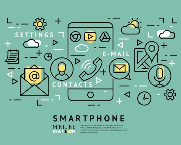 Ikony uruchamiania inteligentnego telefonu
