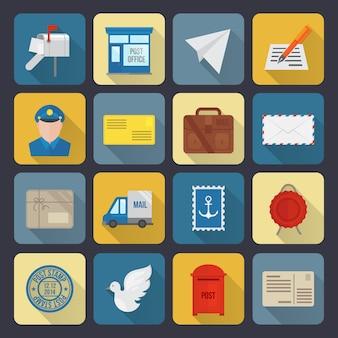 Ikony usług pocztowych