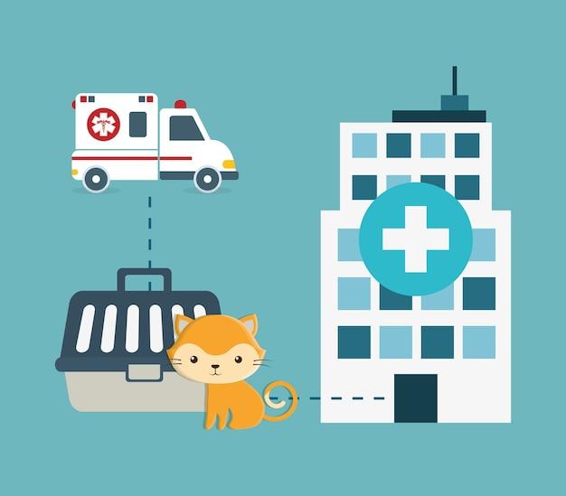 Ikony usługi centrum opieki nad zwierzętami