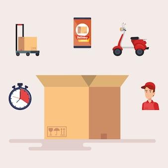 Ikony usługi dostawy
