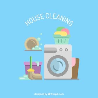 Ikony usługi sprzątania domu