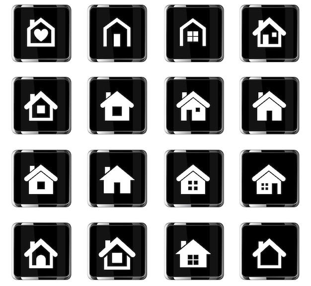 Ikony wektorowe domu do projektowania interfejsu użytkownika