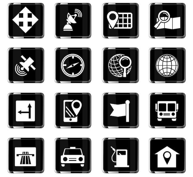 Ikony wektorowe nawigacji do projektowania interfejsu użytkownika