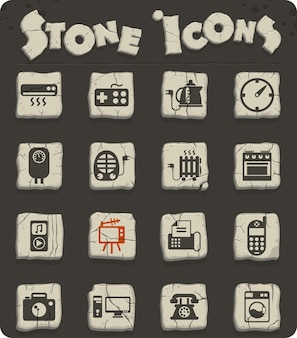 Ikony wektorowe urządzeń gospodarstwa domowego do projektowania sieci i interfejsu użytkownika
