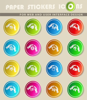 Ikony www strony ubezpieczeniowej do projektowania interfejsu użytkownika