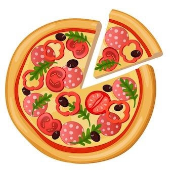 Ikony www szczegółowe płaski pizzy