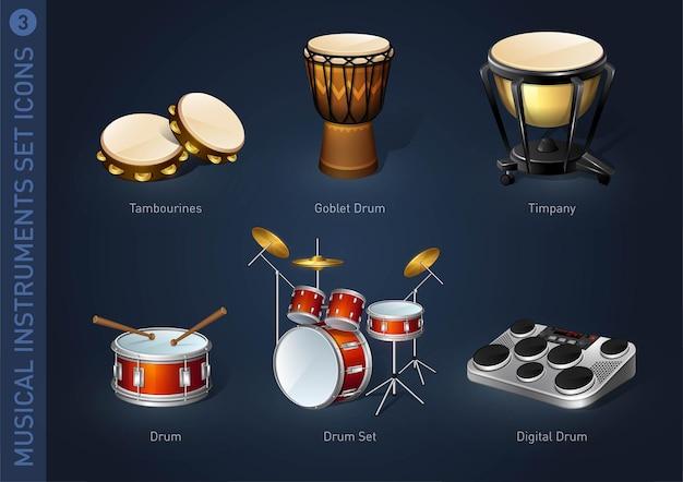 Ikony zapasów instrumentów muzycznych część 3