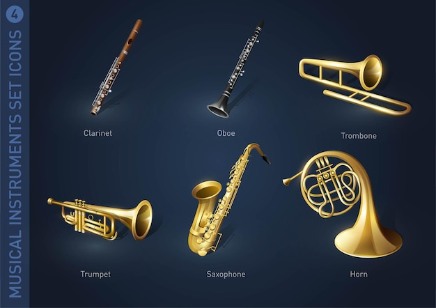 Ikony zapasów instrumentów muzycznych część 4