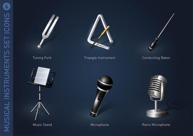 Ikony zapasów instrumentów muzycznych część 6