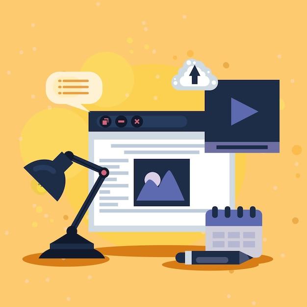 Ikony zestawu szablonów do projektowania stron internetowych