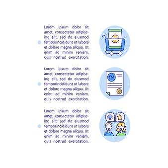 Ikony znaków towarowych z tekstem