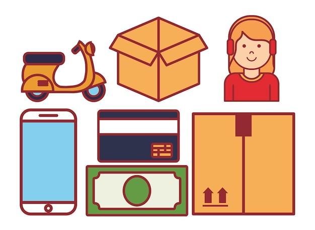Ikony związane z dostawą