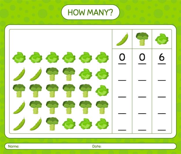 Ile gry liczącej z warzywami