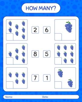 Ile liczy gra z arkuszem jagód dla dzieci w wieku przedszkolnym, arkusz ćwiczeń dla dzieci, arkusz do druku