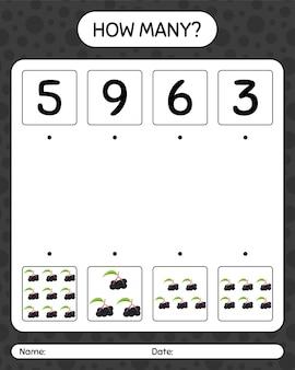 Ile liczy gra z bzem. arkusz roboczy dla dzieci w wieku przedszkolnym, arkusz ćwiczeń dla dzieci, arkusz roboczy do druku