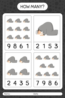 Ile liczy gra z modlitwą. arkusz roboczy dla dzieci w wieku przedszkolnym, arkusz ćwiczeń dla dzieci, arkusz roboczy do druku