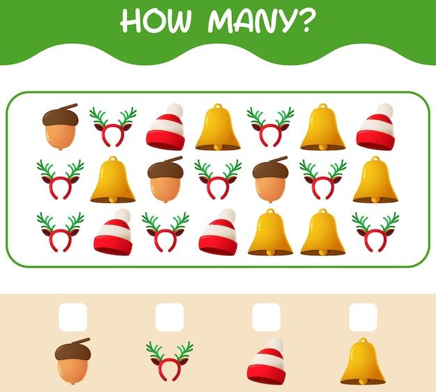 Ile świątecznych kreskówek. gra licząca. gra edukacyjna dla dzieci w wieku przedszkolnym i małych dzieci
