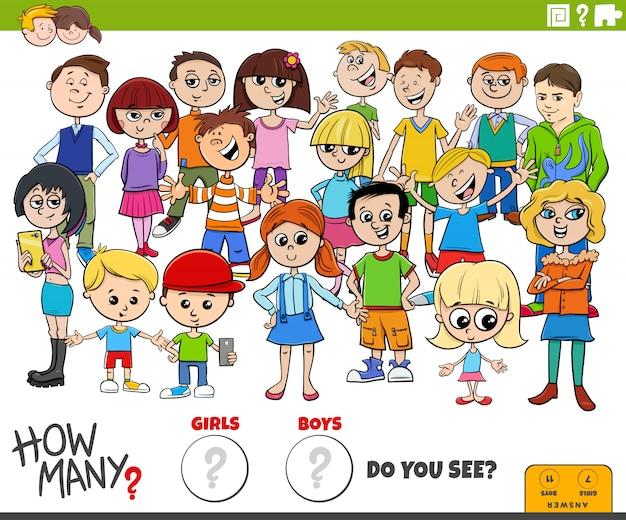 Ile zadań edukacyjnych dla dziewcząt i chłopców