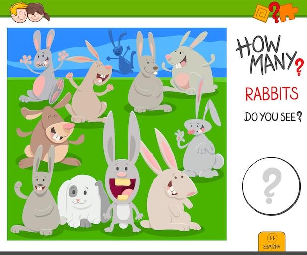 Ile zadań edukacyjnych dla królików