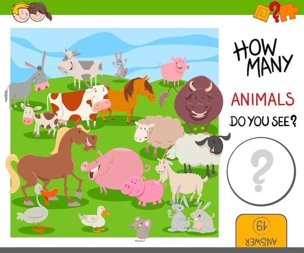 Ile zwierząt gospodarskich gra