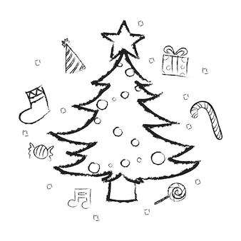 Illsutration świąt Bożego Narodzenia