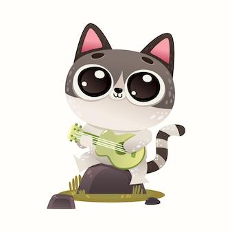 Illutration cute cat