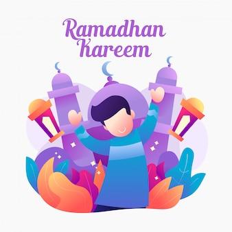 Illutration gradientowy ramadhan