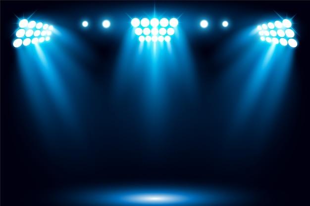 Iluminująca sceny światła światła reflektorów sceny wektoru ilustracja