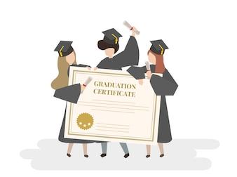 Ilustracja świadectwa ukończenia szkoły