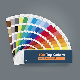 Ilustracja 100 najlepszych palet kolorów przewodnik dla wykorzystania internetowej drukowania