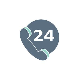 Ilustracja 24-godzinnej obsługi klienta
