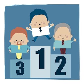Ilustracja 3 najlepszych biznesmenów