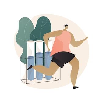Ilustracja abstrakcyjna koncepcja testu dopingowego