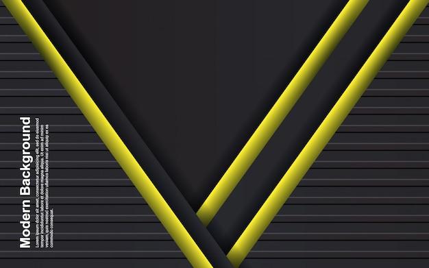 Ilustracja abstrakcyjne tło w kolorze czarnym i żółtym