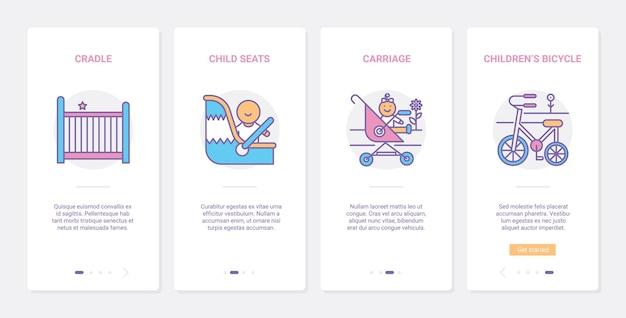 Ilustracja akcesoriów do transportu dziecka