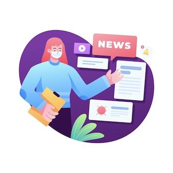 Ilustracja aktualizacji wiadomości koronawirusa
