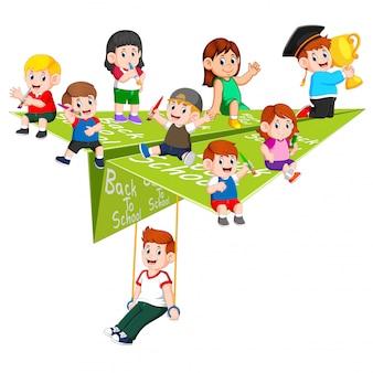 Ilustracja aktywności ucznia na papierowym płaszczyźnie