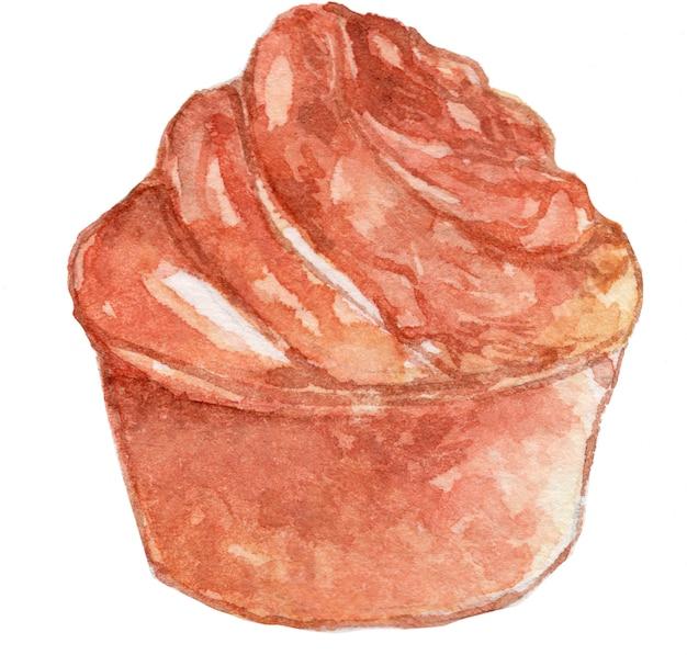 Ilustracja akwarela chleb chleba