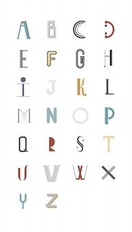 Ilustracja alfabetu angielskiego typografii