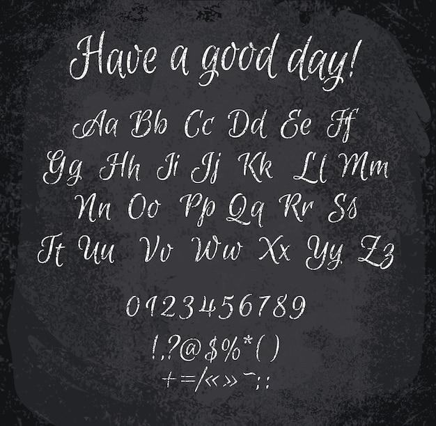 Ilustracja alfabetu kredą
