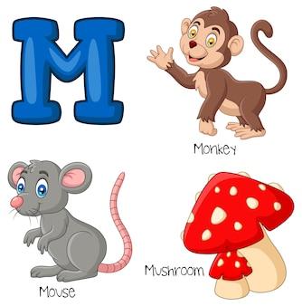 Ilustracja alfabetu m