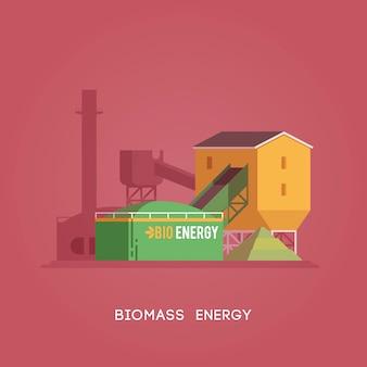 Ilustracja. alternatywne źródła energii. zielona energia. energia biomasy.