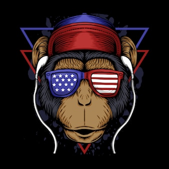 Ilustracja ameryka małpa