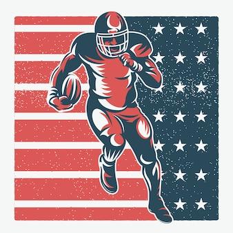 Ilustracja amerykański piłkarz